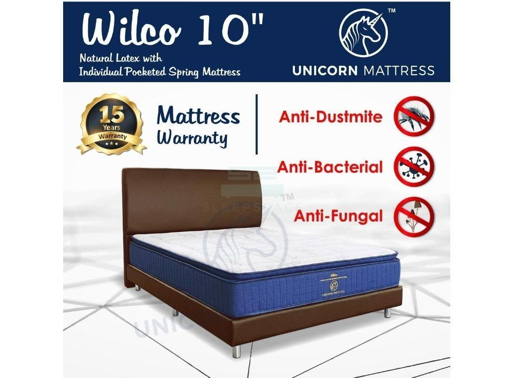 Unicorn Wilco Natural Latex with Individual Pocketed Spring Mattress (10 inch)-Unicorn-Sleep Space
