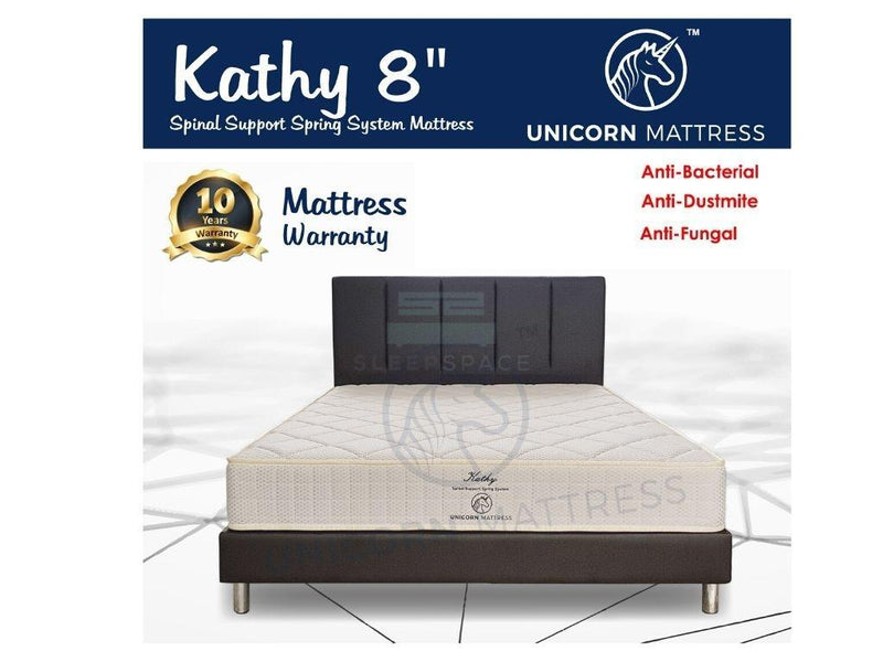 Unicorn Kathy Spinal Support Spring Mattress (8 Inch)-Unicorn-Sleep Space