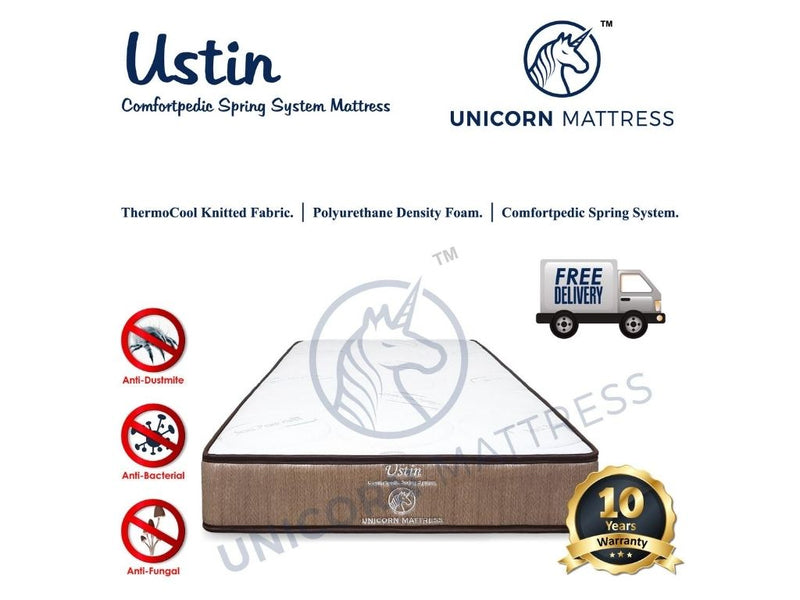 Unicorn Ustin Comfortpedic Spring Mattress (6 Inch)-Unicorn-Sleep Space