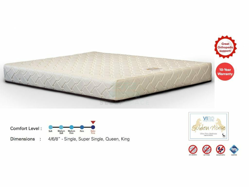 Viro Golden Horse Ultra Firm Orthopedic Mattress-Viro-Sleep Space