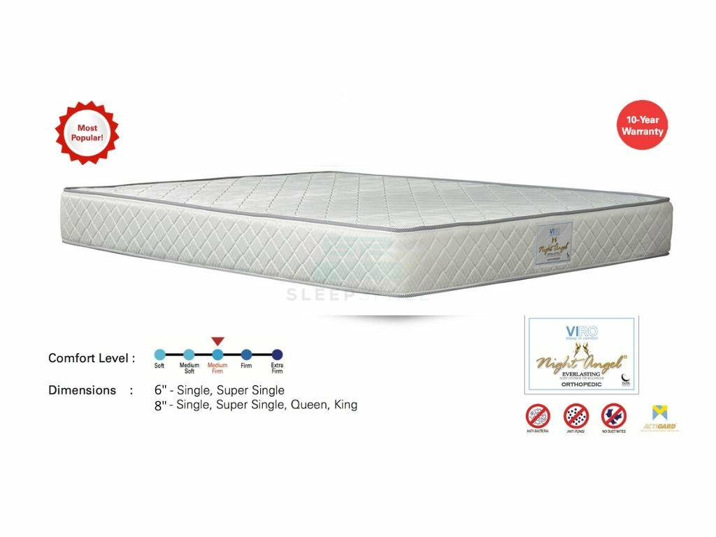 Viro Night Angel Everlasting Orthopedic Spring Mattress – Most Popular!-Viro-Sleep Space