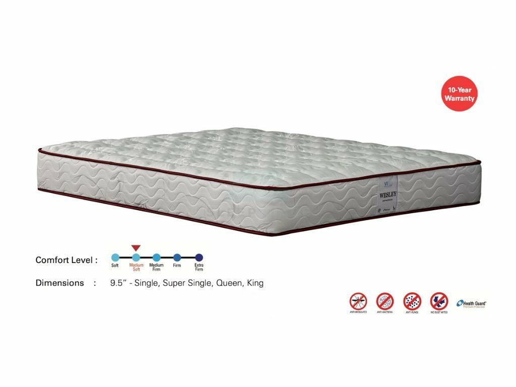 Viro Wesley Orthopedic Mattress (Anti Mosquito, 9.5 inch)-Viro-Sleep Space