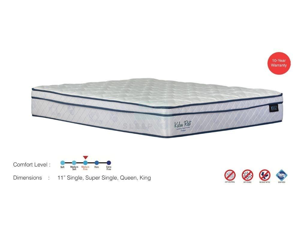 Viro Kalm Rest Euro Top Spring Mattress (11 inch)-Viro-Sleep Space