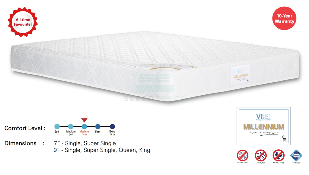 Viro Millennium Spring Mattress – All Time Favourite-Viro-Sleep Space