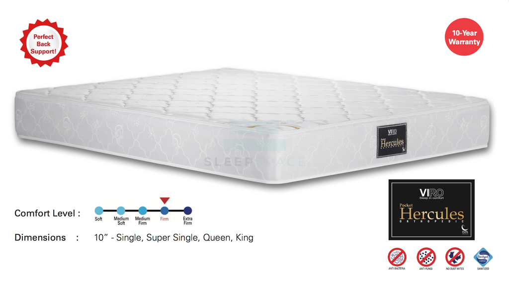 Viro Pocket Hercules Orthopedic Spring Mattress-Viro-Sleep Space