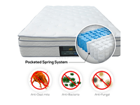 MaxCoil Orlando Crest Pocketed Spring Mattress & Bed Bundle-Maxcoil-Sleep Space