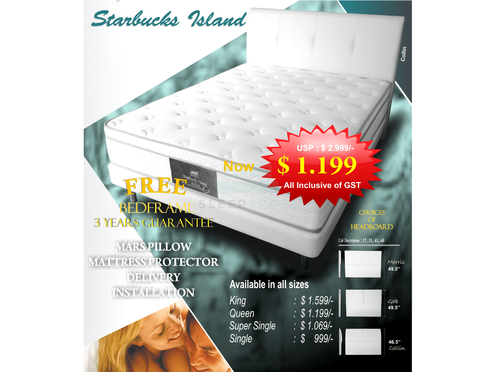 MaxCoil Starbucks Island Mattress & Bed Bundle-Maxcoil-Sleep Space