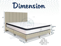 Unicorn Kyler Individual Pocketed Spring Mattress (10 inch) with Bed Frame Bundle-Unicorn-Sleep Space