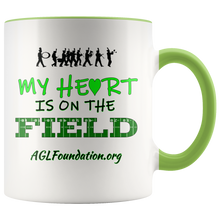 Load image into Gallery viewer, AGL Foundation My Heart is on the Field Coffee Mug