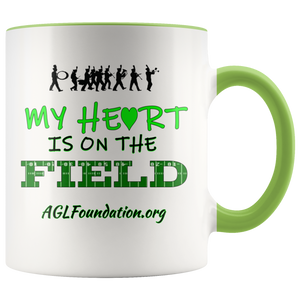 AGL Foundation My Heart is on the Field Coffee Mug