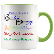 Load image into Gallery viewer, AGL Foundation Music is Life Coffee Mug