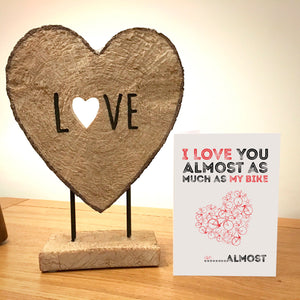 New Design - Cycling Valentine's Card - Only £3 delivered