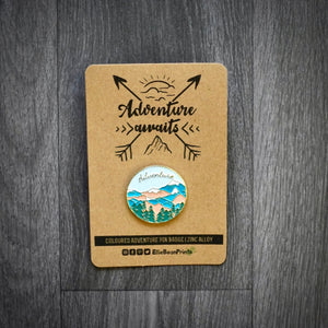 Adventure Awaits Enamel Pin Badge