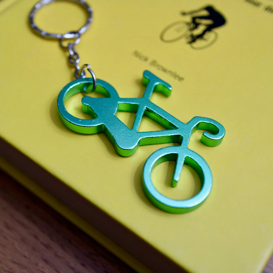 Alloy Anodised Road Bike Keyring Bottle Opener
