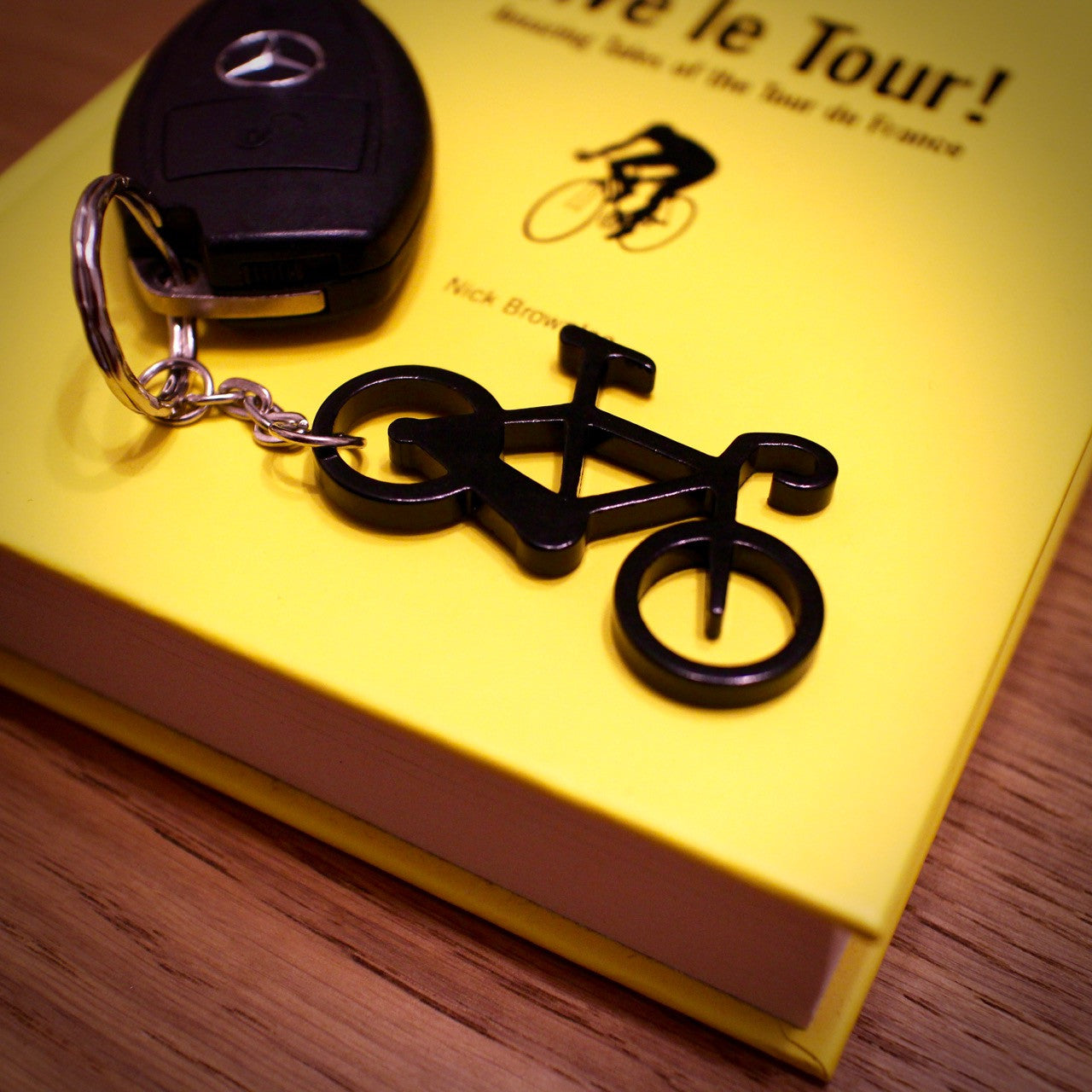 alloy anodised road bike keyring bottle opener elliebeanprints. Black Bedroom Furniture Sets. Home Design Ideas