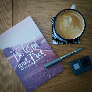Be Wild & Free Adventure A5 Notebook