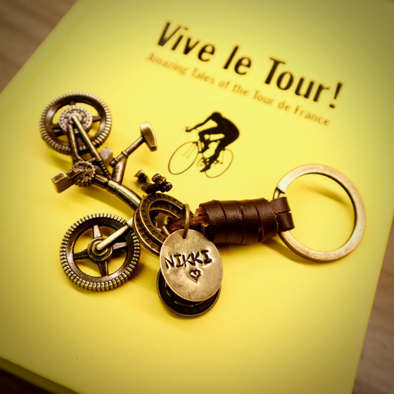 Antique Bronze Mountain Bike Keyring