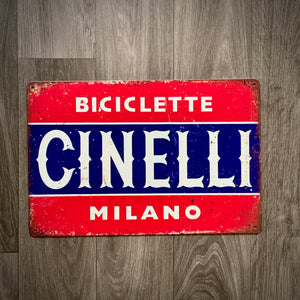 Cinelli Milano Biciclette Retro Cycling Sign