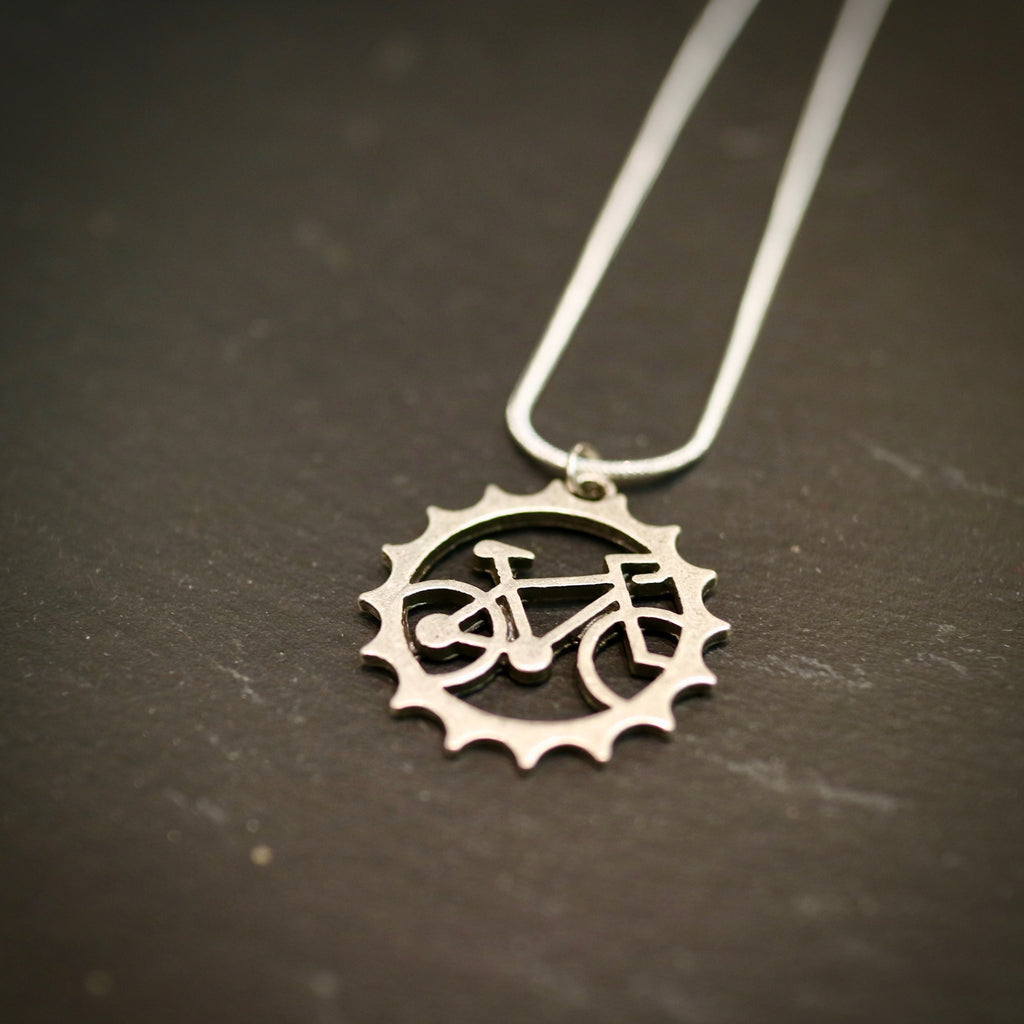 Bicycle Chainring Necklace
