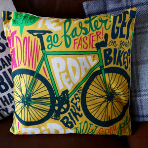 Faster Bike Cushion Cover