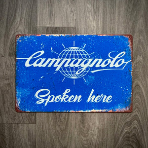 Campagnolo Spoken Here Retro Cycling Sign