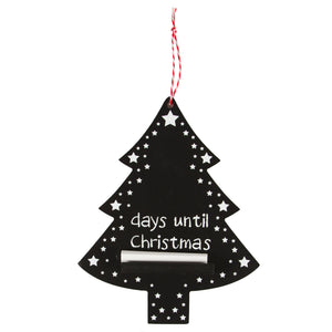Hanging Christmas Tree Countdown Chalkboard