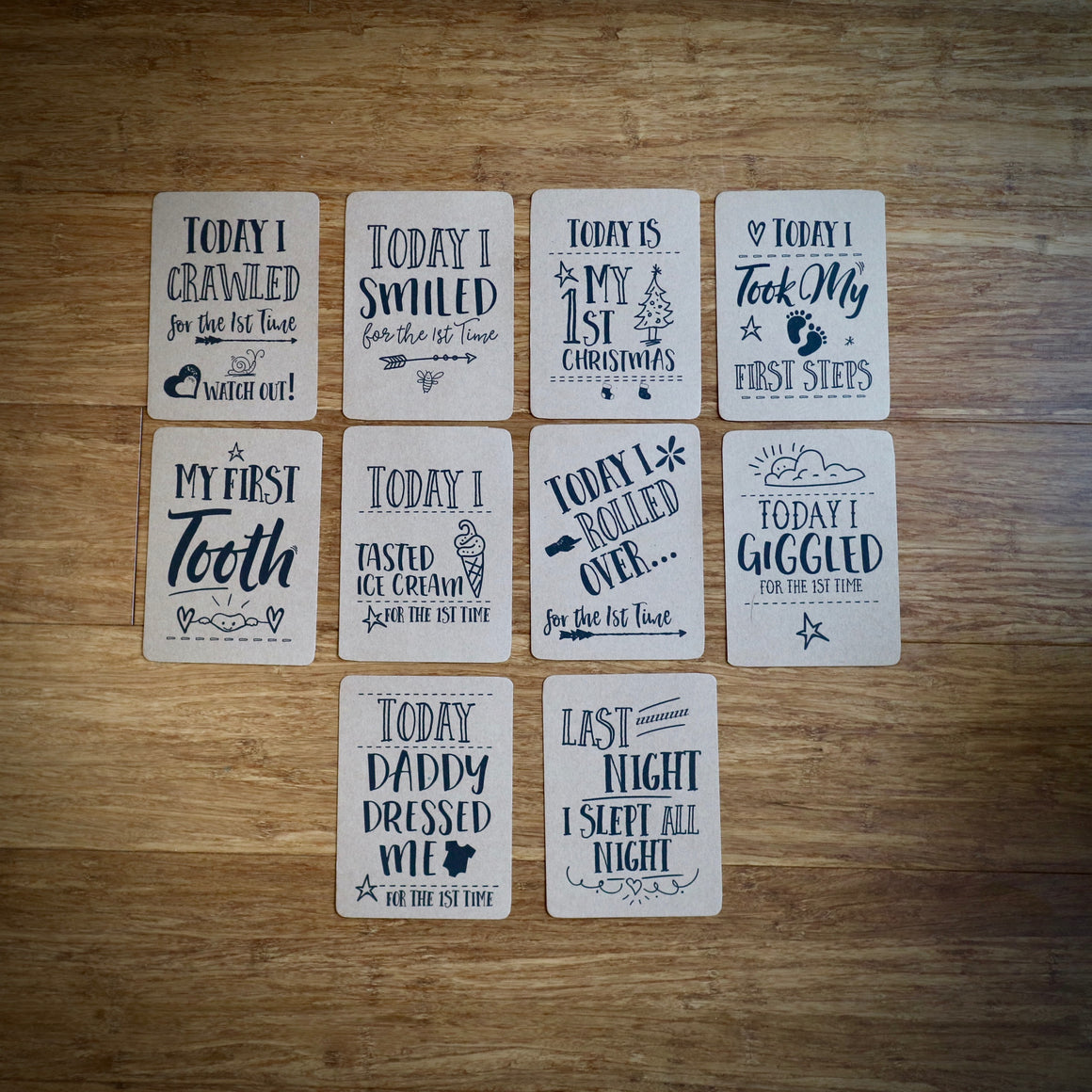 Doodle Baby Milestone Cards (Pack 25)