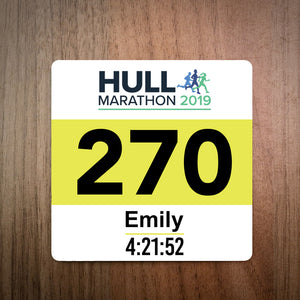 Hull Marathon 2019 Race Bib Coaster
