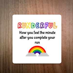 Runderful Rainbow Running Coaster