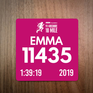 Yorkshire 10 Mile Race Bib Coaster