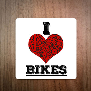 I Love Bikes Cycling Coaster