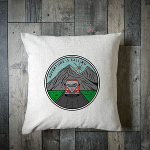 Adventure Is Calling Camper Cushion