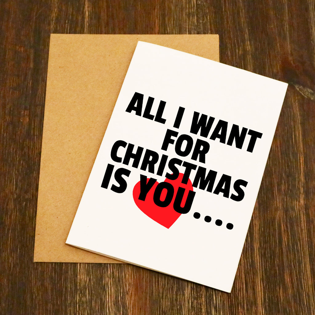 All I Want For Christmas Is You..... Naked Christmas Card