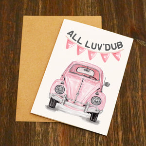All Luv'Dub VW Beetle Valentine's Card