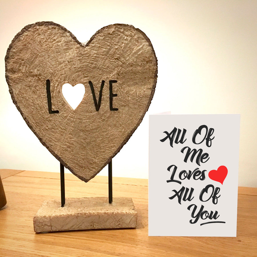 All Of Me Loves All Of You Anniversary Card