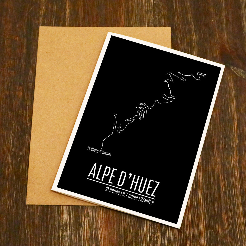 Alpe D'Huez Famous Road Climb Cycling Card
