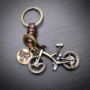 Dad's Keys Antique Bronze Mountain Bike Keyring