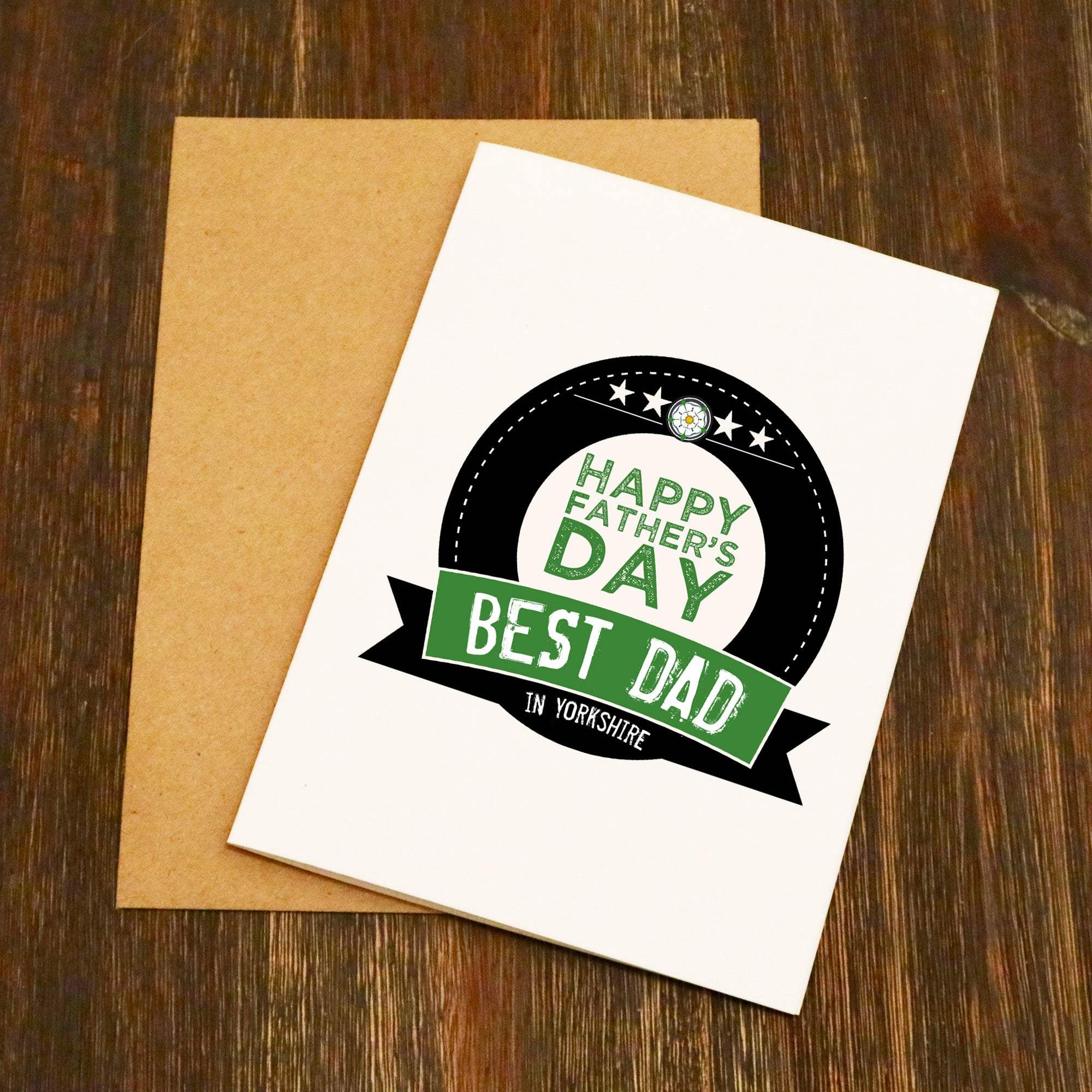 Best Dad In Yorkshire Fathers Day Card Elliebeanprints
