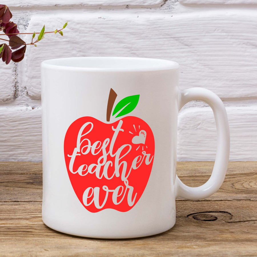 Best Teacher Ever Apple Mug