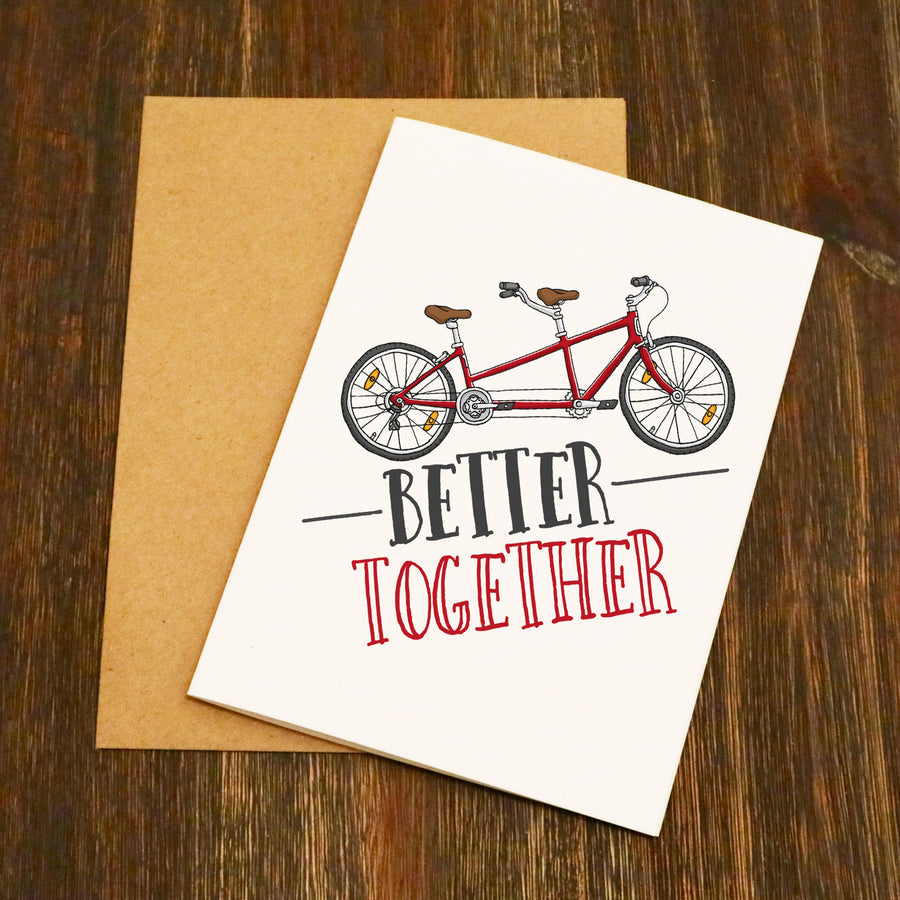 Better Together Tandem Cycling Card