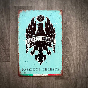 Bianchi Passione Celeste Classic Retro Cycling Sign