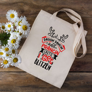 Blitzen Christmas Tote Bag