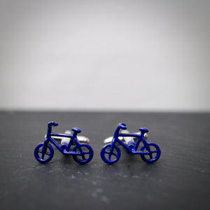 Blue Bike Cufflinks