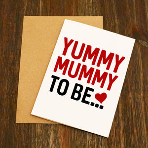 Bold Yummy Mummy To Be... Greetings Card