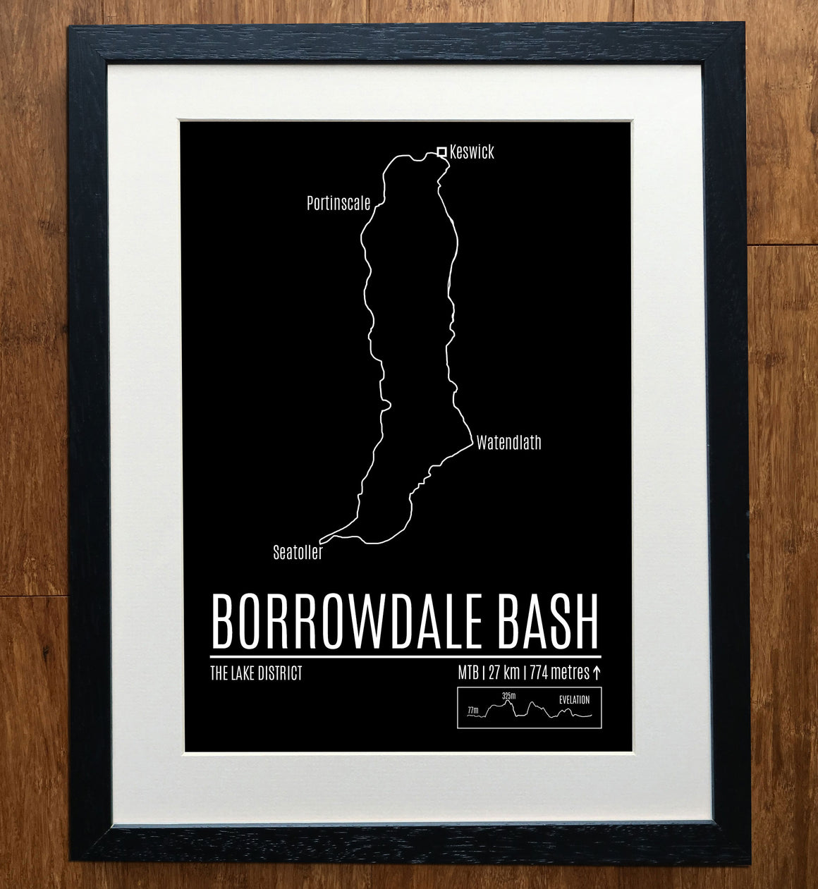 Borrowdale Bash Classic Mountain Bike Trail Print