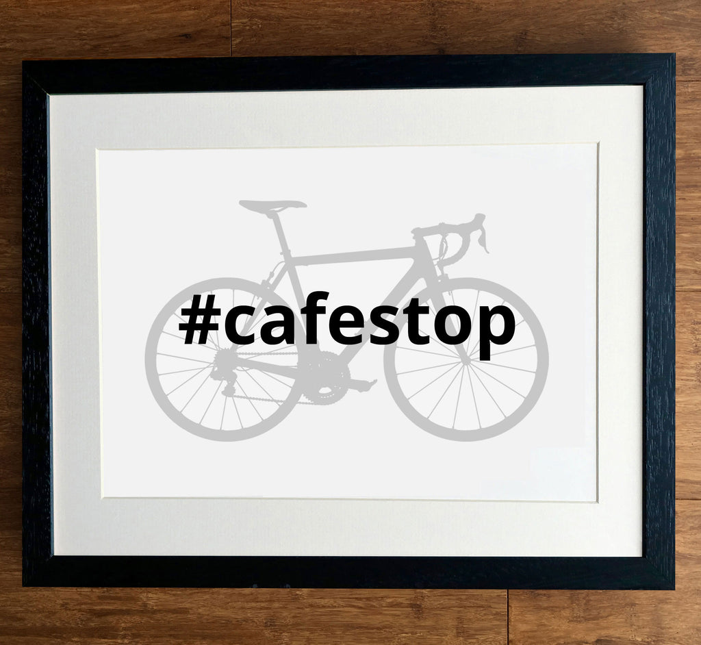 Cycling Hashtag Personalised Print