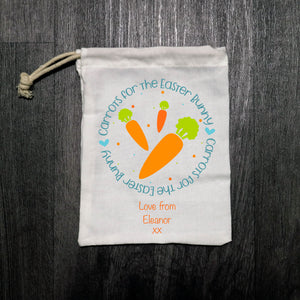 Personalised Carrots For The Easter Bunny Cloth Bags