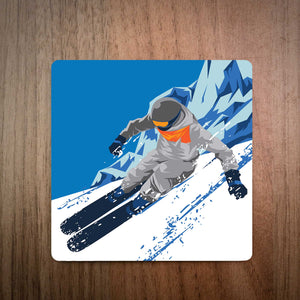 Carving Powder Turns Ski Coaster