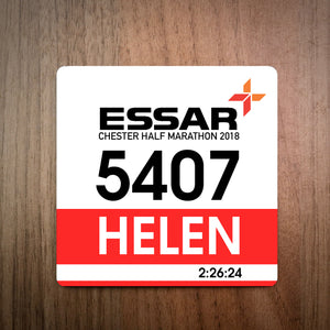 Personalised Chester Half Marathon Race Bib Coaster