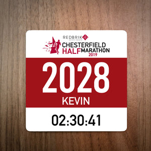 Chesterfield Half Marathon Bib Coaster